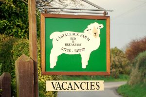 castallack farm b&b entrance