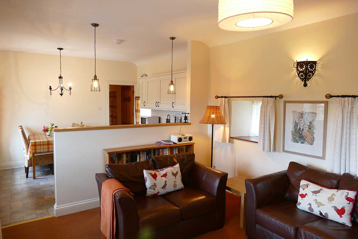 Trevean self catering lounge